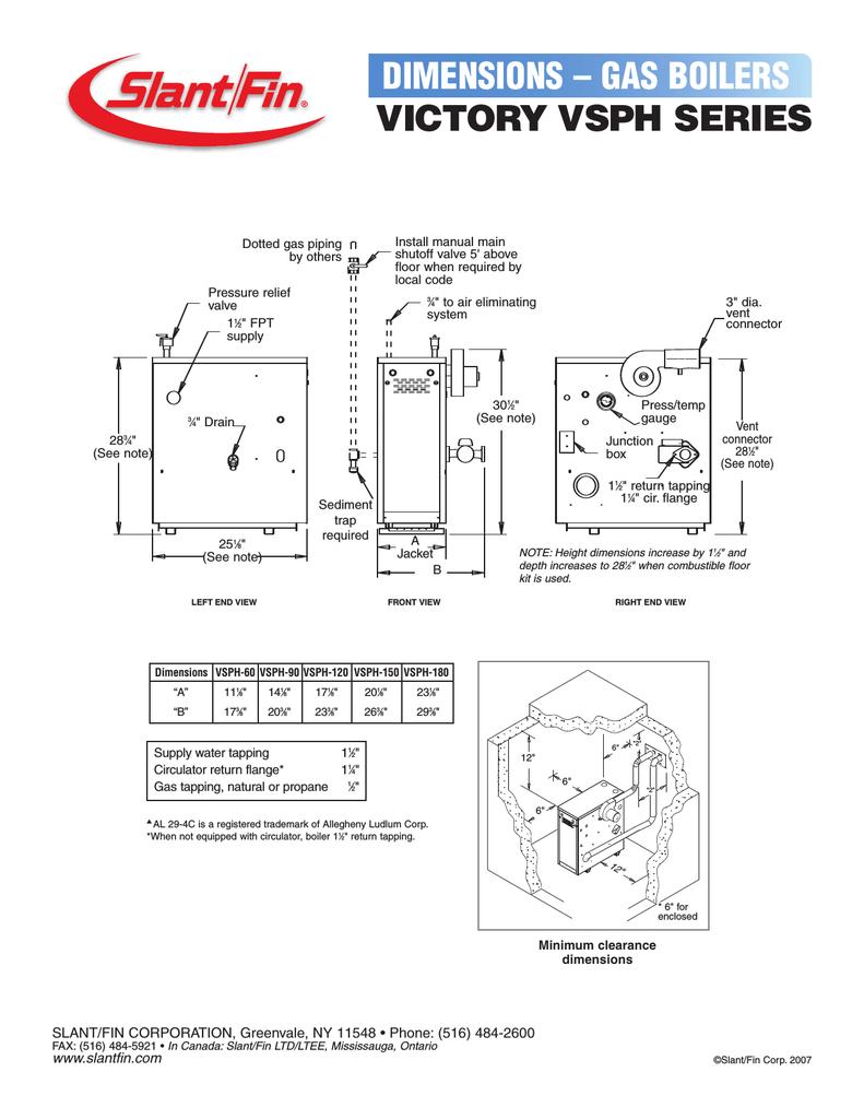 Slant/Fin Victory VSPH series User's Manual | Manualzz