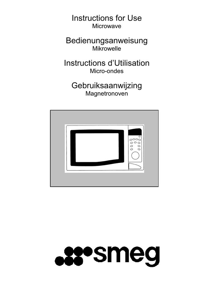 Smeg Me202x Instructions For Use Manualzz