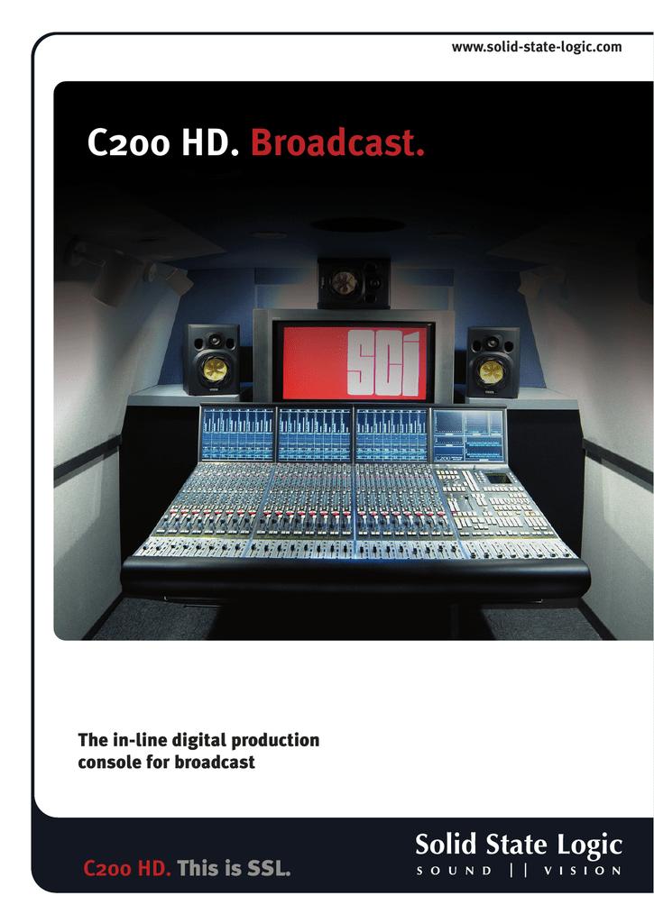 Solid State Logic C200 HD User's Manual | manualzz com
