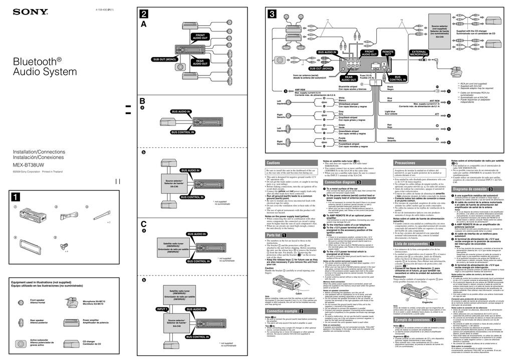 003469832_1 65cbcb1975be2363af9f7c4f2ff030e5 sony mex bt38uw installation connections manual sony mex-bt38uw wiring diagram at n-0.co