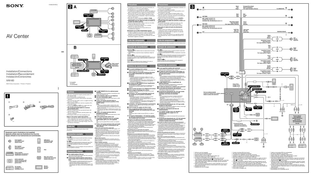 Sony Xav 60 Wiring Diagram | Wiring Diagram Sony Xav A Wiring Diagram on fire oven diagrams, sony laptop repair diagrams, sony wiring harness colors, sony xplod wiring color code, steam boiler residential diagrams,