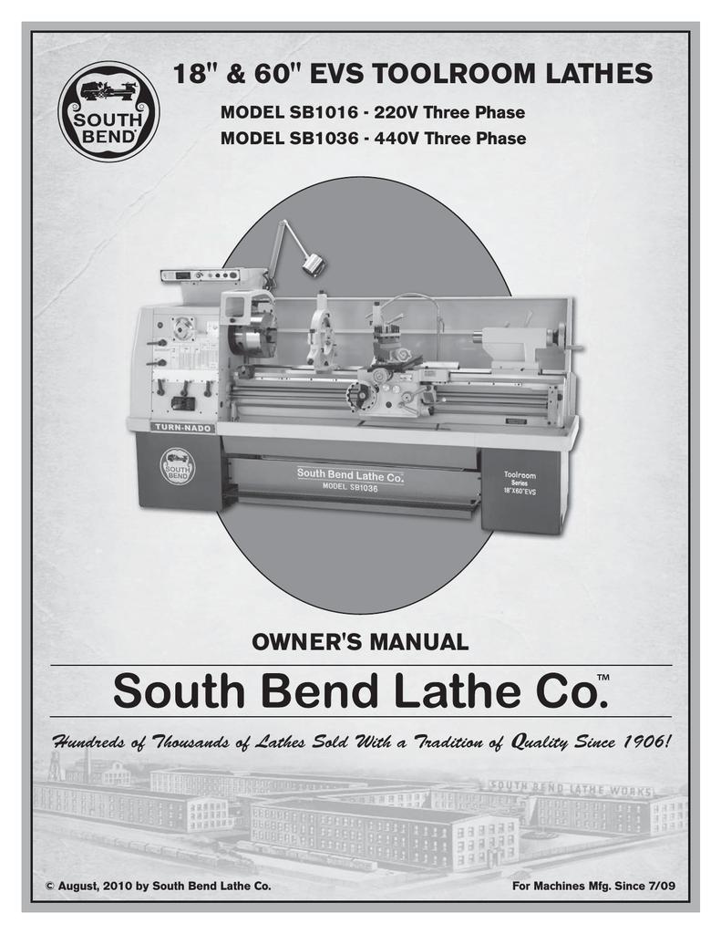 Southbend sb1016 User's Manual | manualzz com
