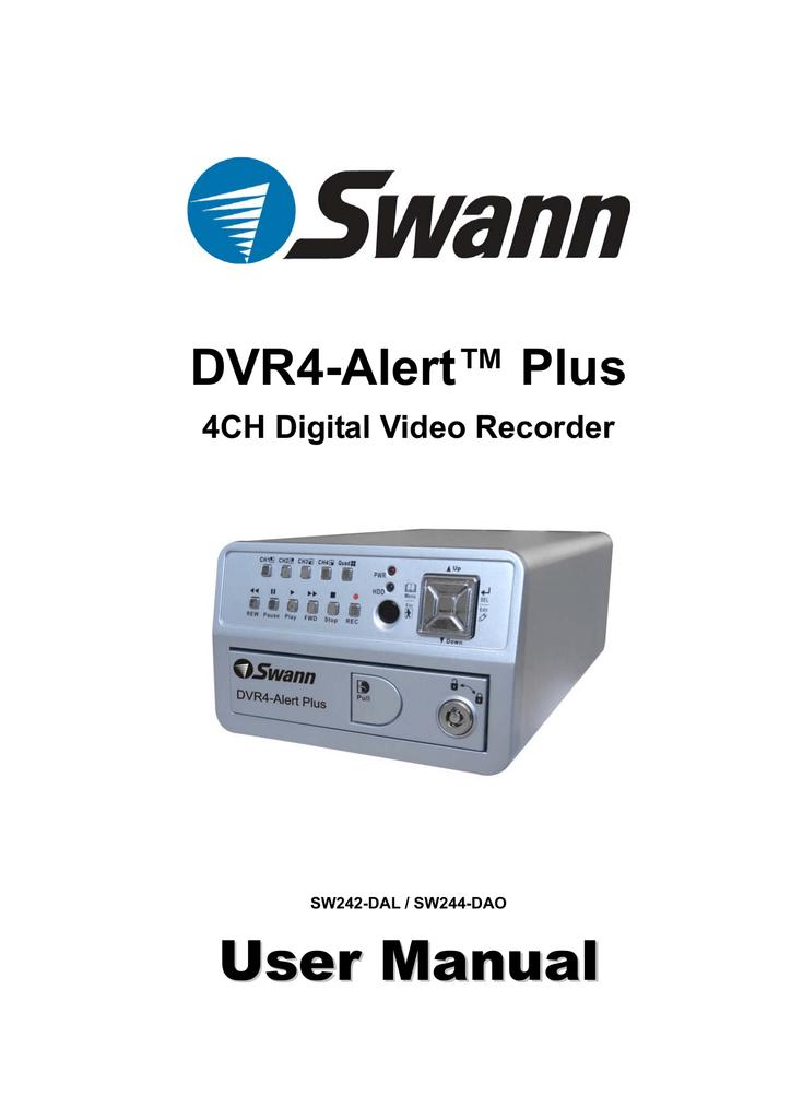 Swann 4-Alert SW244-DAO User's Manual | manualzz com