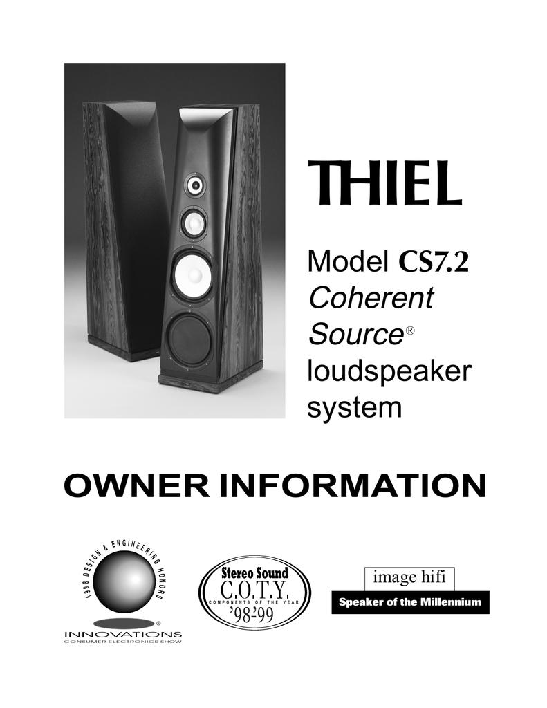 thiel audio products cs7 2 user s manual manualzz com rh manualzz com