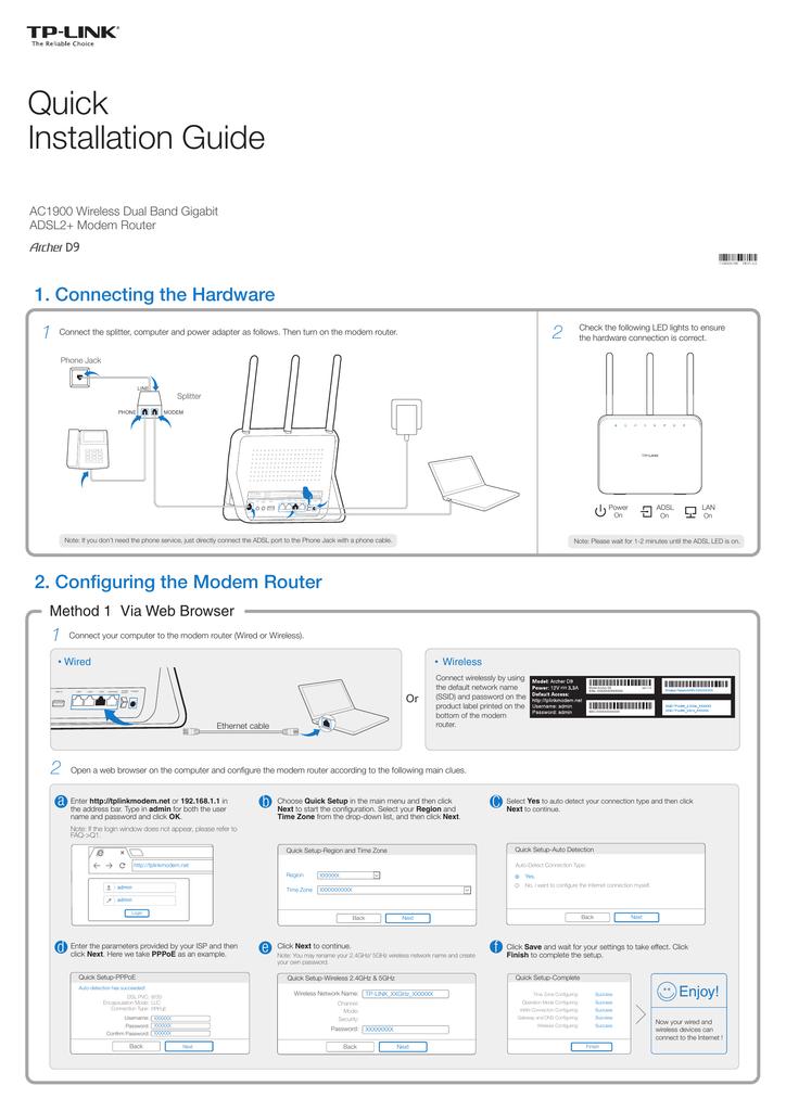 TP-Link Archer D9 Quick Installation Guide | manualzz com