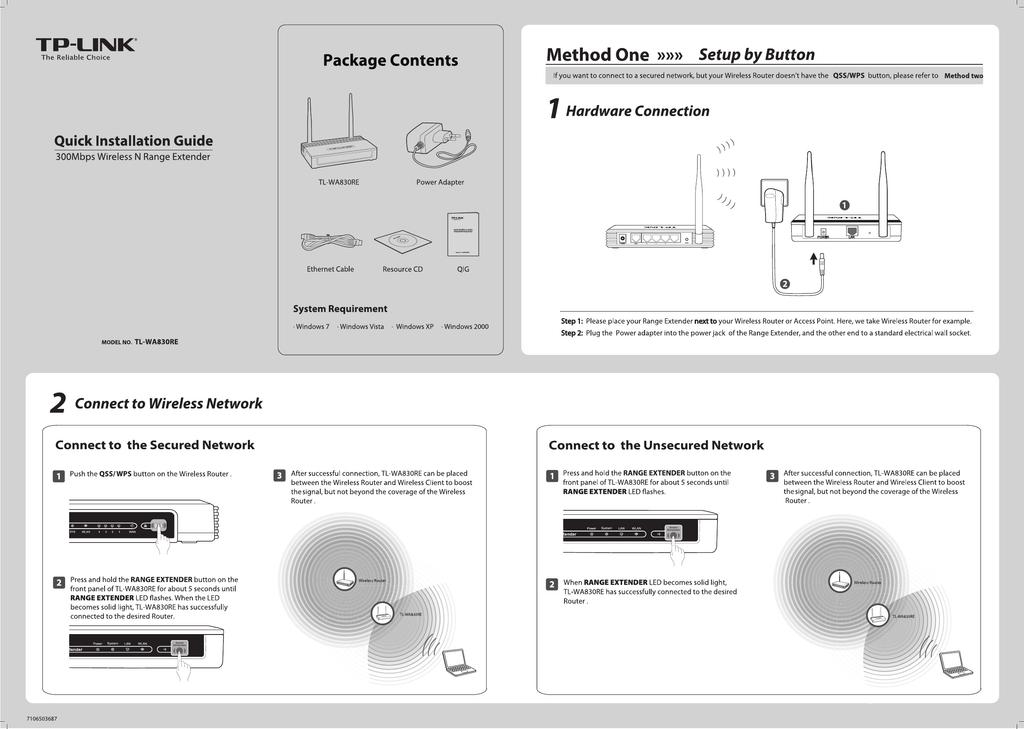 TP-Link TL-WA830RE V1 Quick Installation Guide | manualzz com