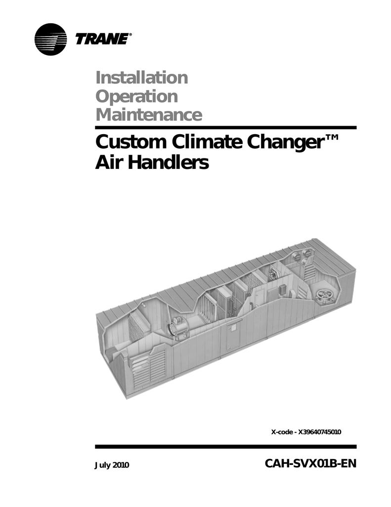 Trane Performance Air Handlers Installation And Maintenance Manual Hard Start Kit Wiring Diagram