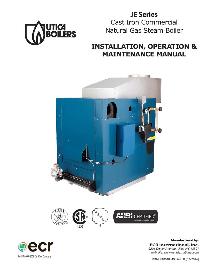 Utica Boilers JE Operation and Installation Manual | manualzz.com on utica boiler parts, utica boiler system, utica boiler brochure, a.o. smith wiring diagram, utica boiler installation, utica boiler controls,