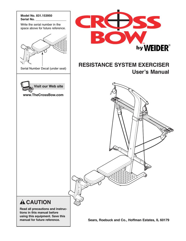 Weider weevsy5943 user's manual | manualzz.
