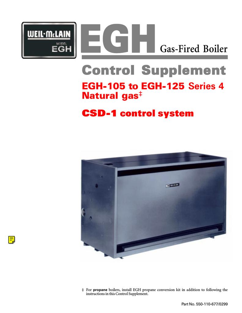 weil-mclain egh-105 user's manual
