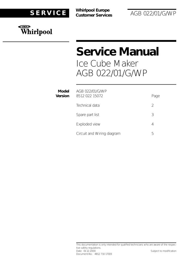 Whirlpool Ice Maker 22 User's Manual | manualzz.com on