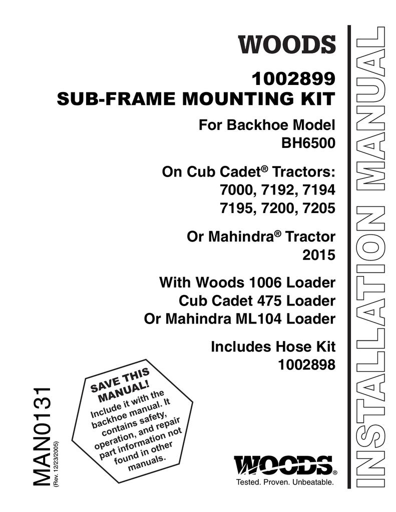Woods Equipment 1002899 User's Manual | manualzz com