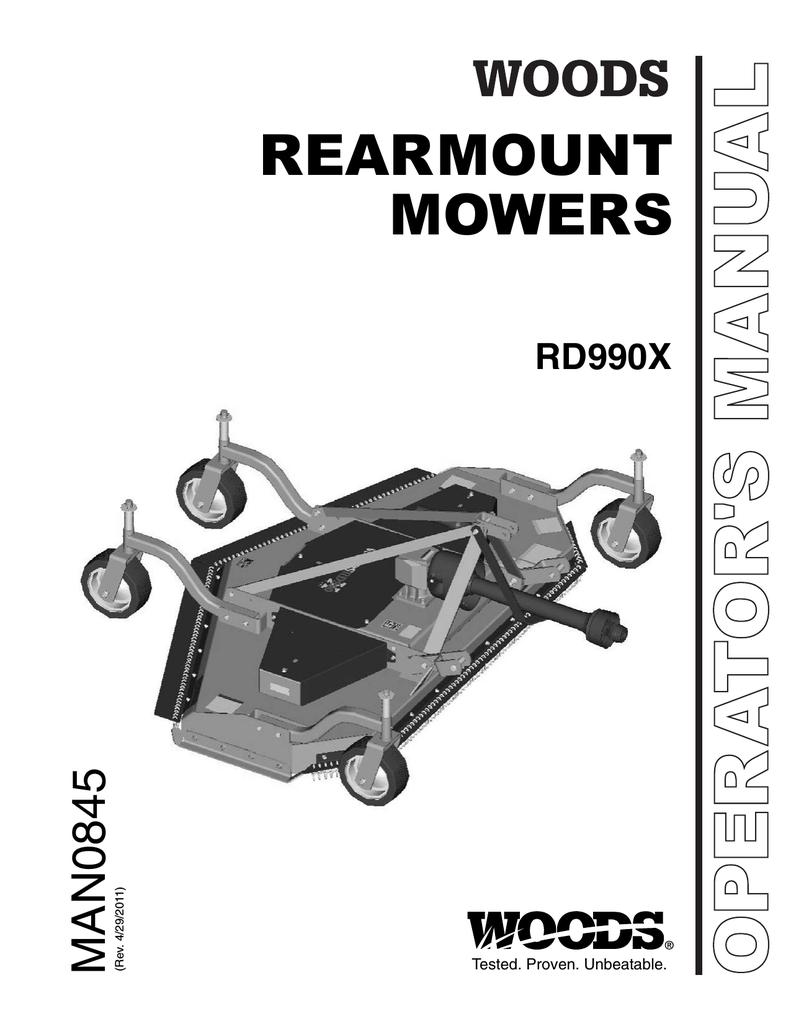 Woods Equipment RD990X User's Manual | manualzz com