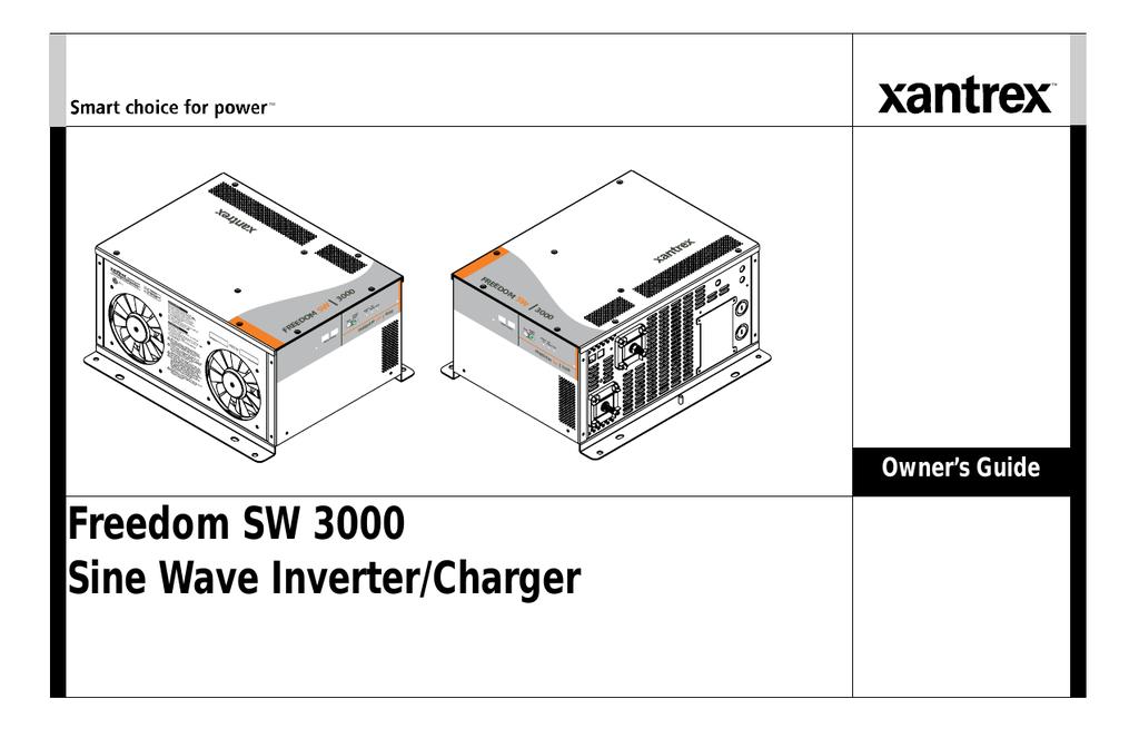 Xantrex FREEDOM SW 3000 User's Manual   manualzz.com on