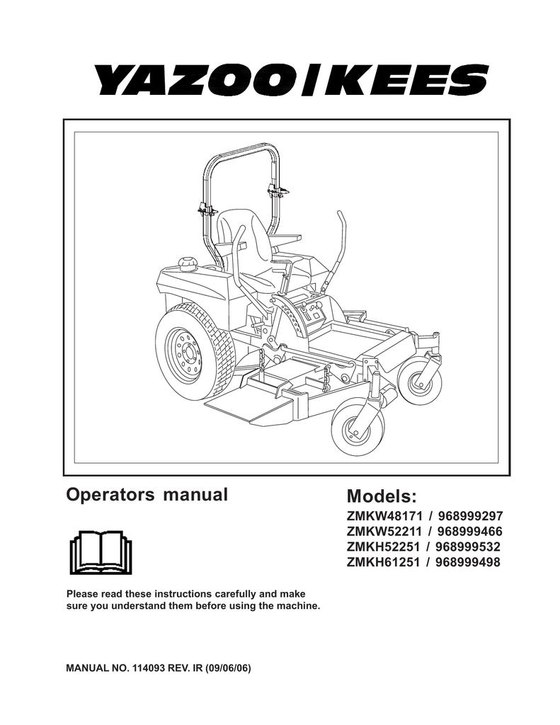 yazoo kees zmkh52251 user's manual manualzz com  yazoo ignition switch wiring diagram #9