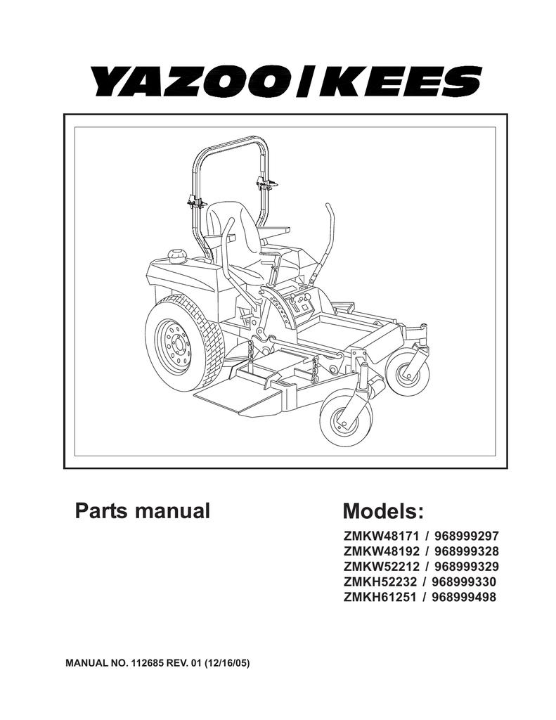 yazoo/kees zmkw4817 user's manual