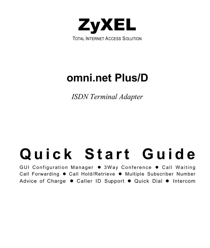 DRIVERS ZYXEL OMNI.NET LCD PLUS