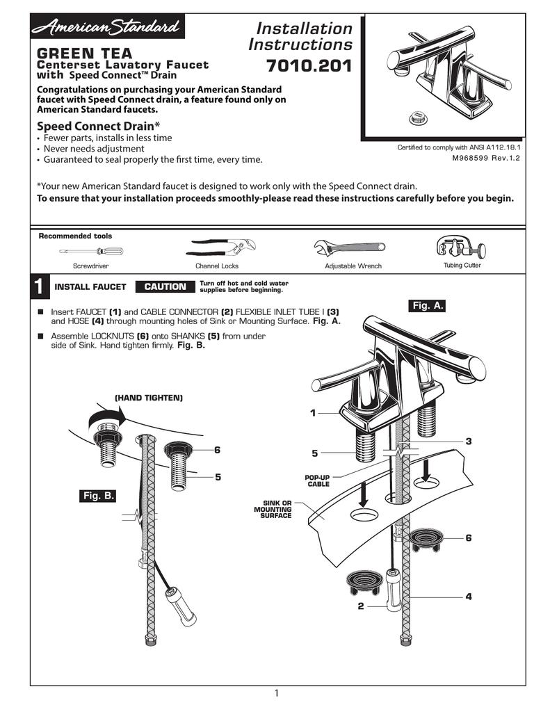 American Standard 7010.201.075 Installation Guide