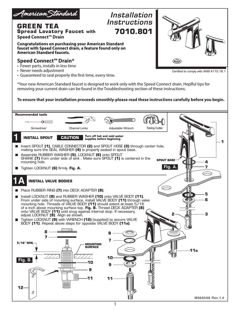 American Standard Speedconnect Diagram - ~ Wiring Diagram Portal ~ •