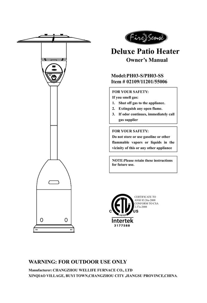 fire sense 55006 installation guide