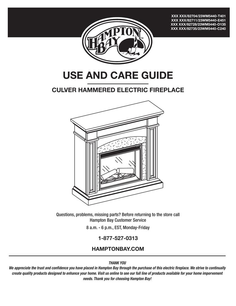 Hampton Bay 82704 Use And Care Manual Manualzz Com
