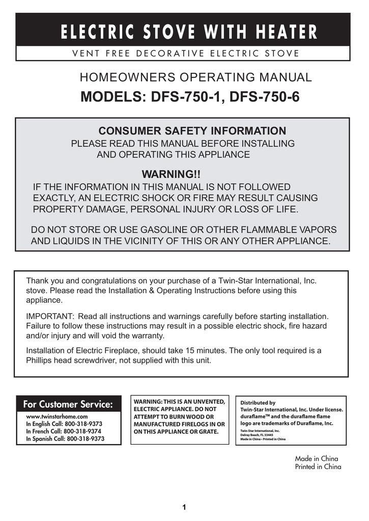 Duraflame Dfs 750 1 Installation Guide Manualzz