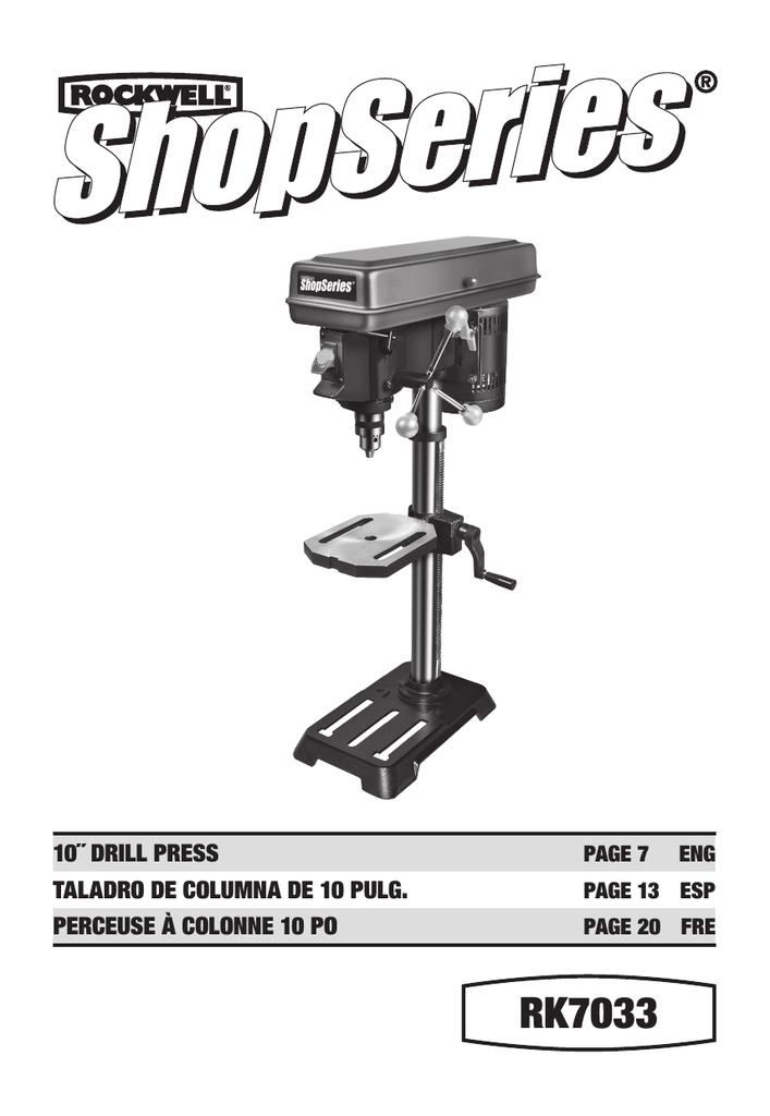 """DP300L Delta 12/"""" Drill Press W// Laser Guides Manual No"""