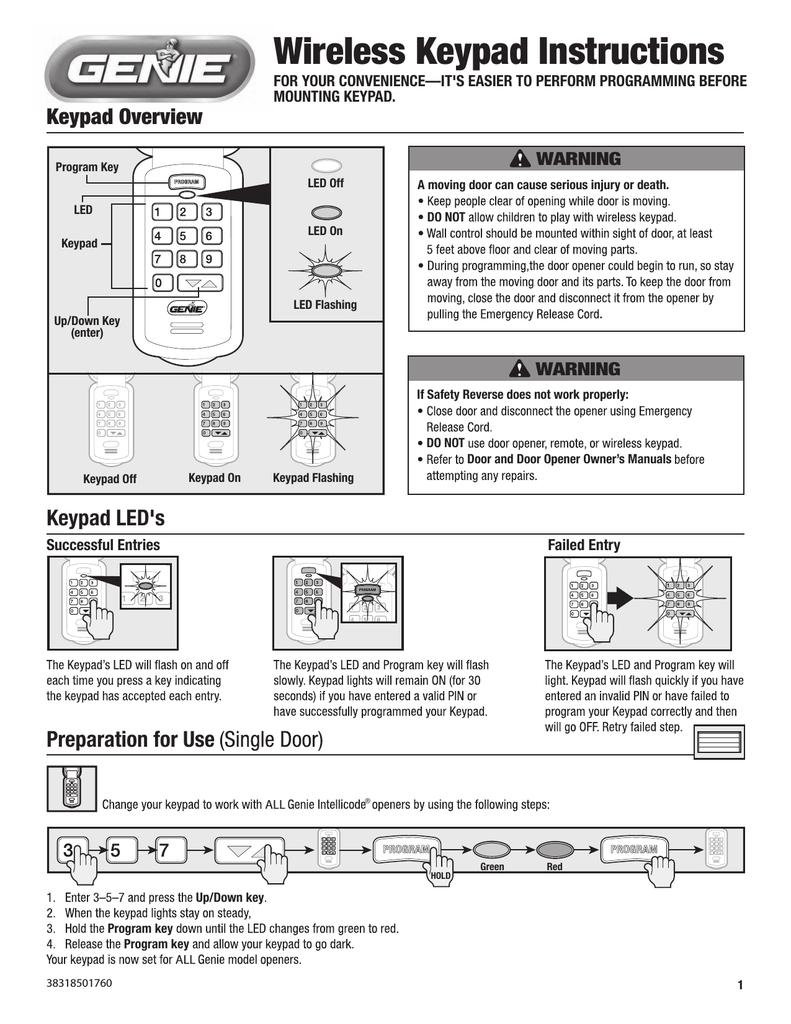Genie Gk R Instructions Assembly Manualzz
