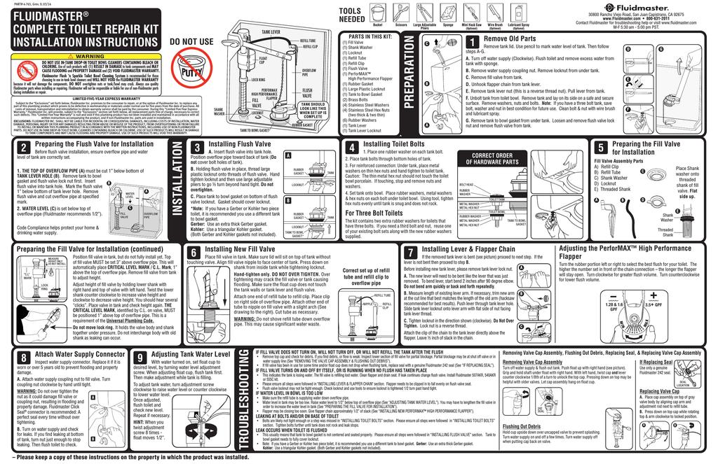Fluidmaster 400akrp10 Installation Guide Manualzz