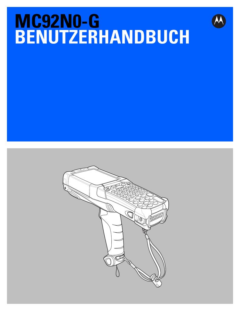MC92N0-G User Guide [German] (P/N 72E-162536 | manualzz.com