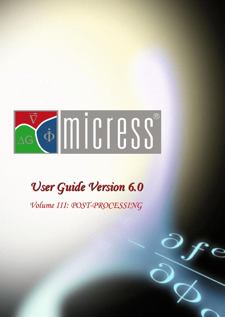 User Guide Version 6 0 - RWTH Aachen University   manualzz com