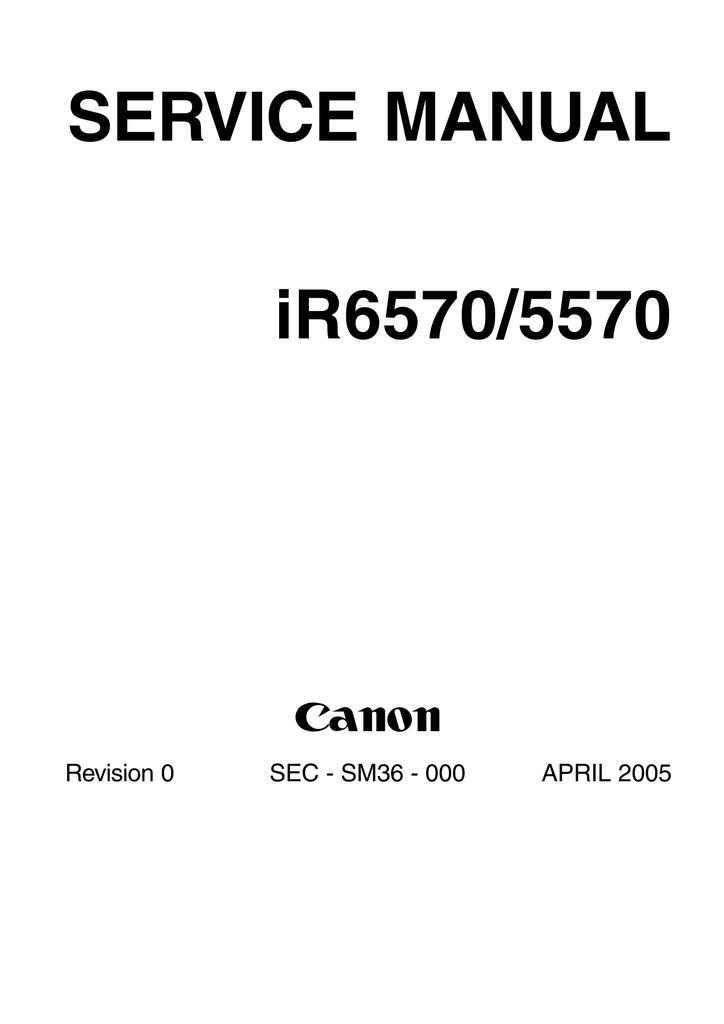 SERVICE MANUAL iR6570/5570 - Ajruli Kopiersysteme GmbH | manualzz.com