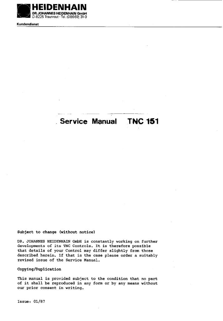 service manual tnc 151 manualzz com rh manualzz com Mazatrol Programming Manual Ring Programming Manual