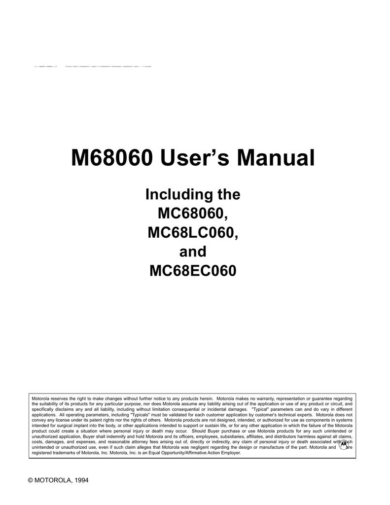 M68060 User's Manual | manualzz com