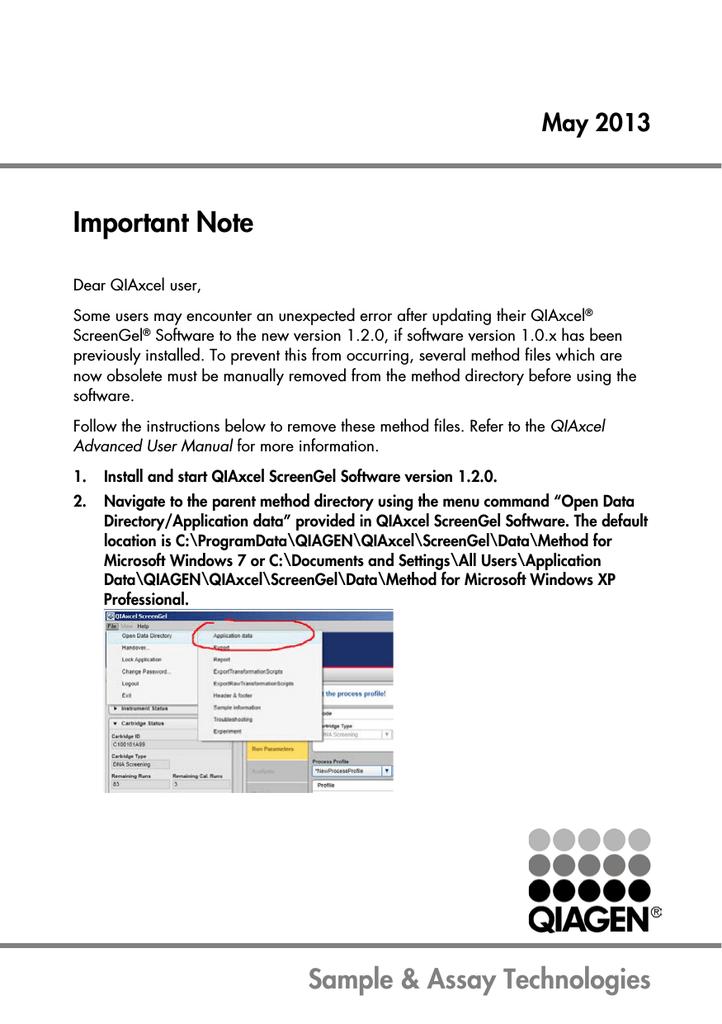 Qiaxcel advanced user manual.