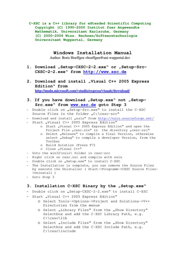 Windows Installation Manual | manualzz com