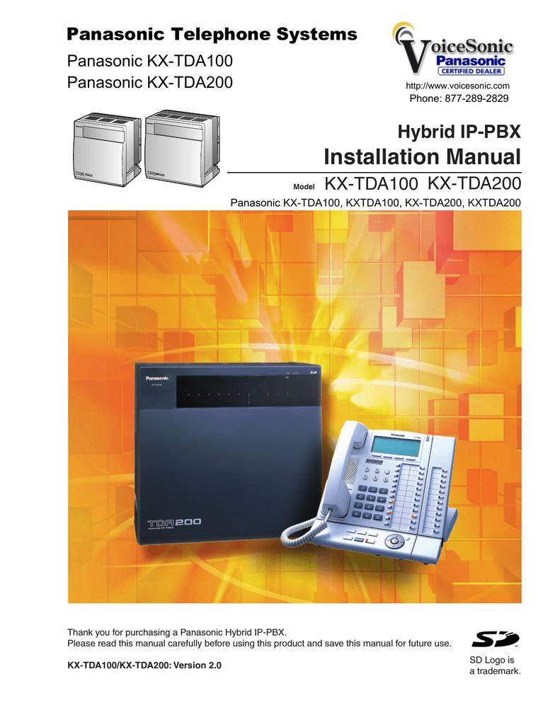 panasonic kx tda100 kx tda200 hybrid ip manualzz com rh manualzz com kx-tda30 installation manual kx-tda30 installation manual