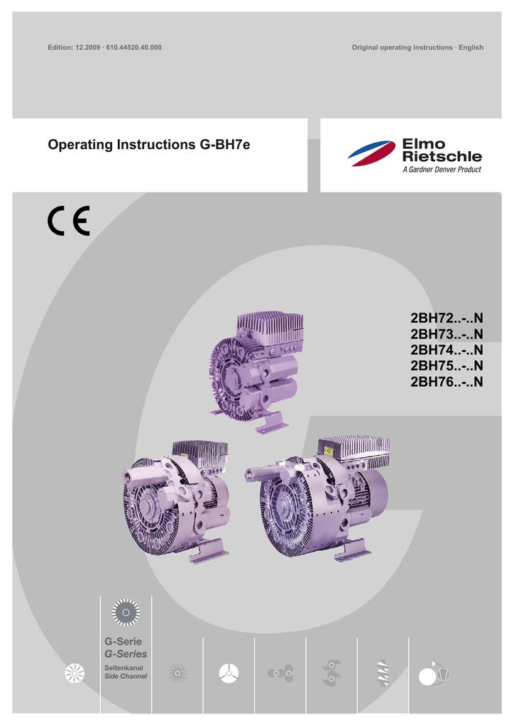 Operating Instructions G-BH7e 2BH72..-..N 2BH73..-..N 2BH74 ... on