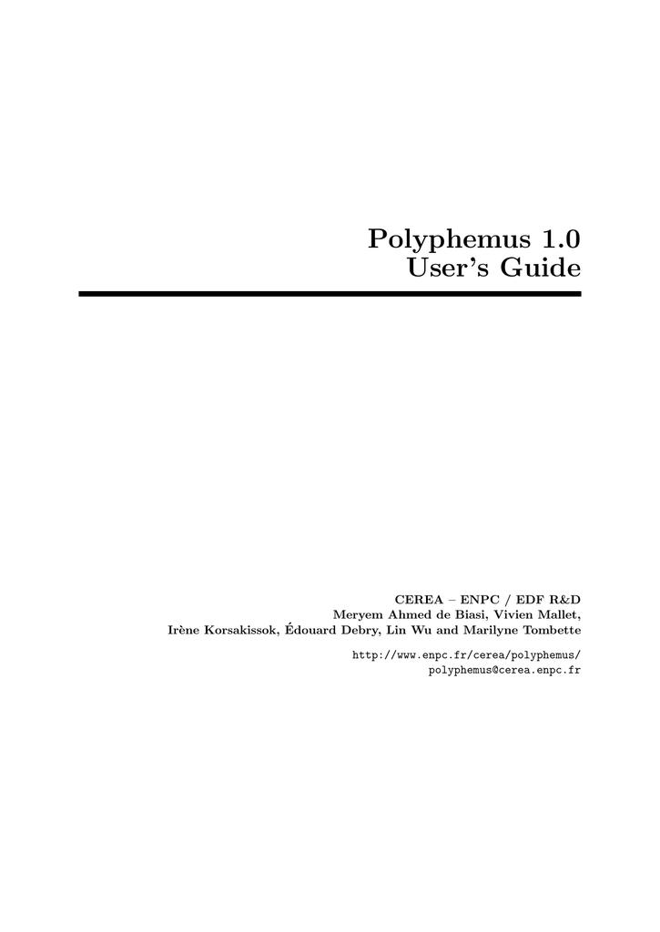 Polyphemus 1 0 User's Guide - Cerea | manualzz com