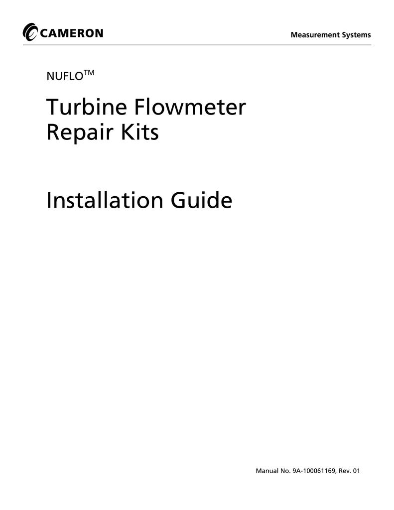Nuflo Turbine Flowmeter Repair Kits User Manual