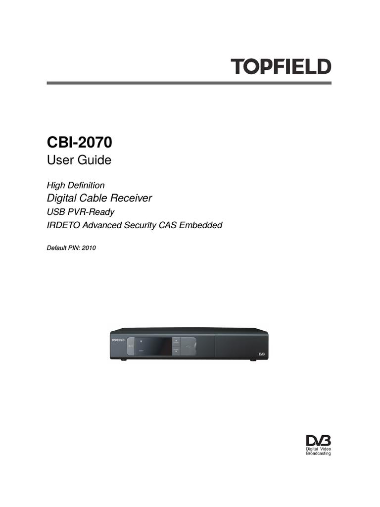 Инструкция topfield sbp 2070