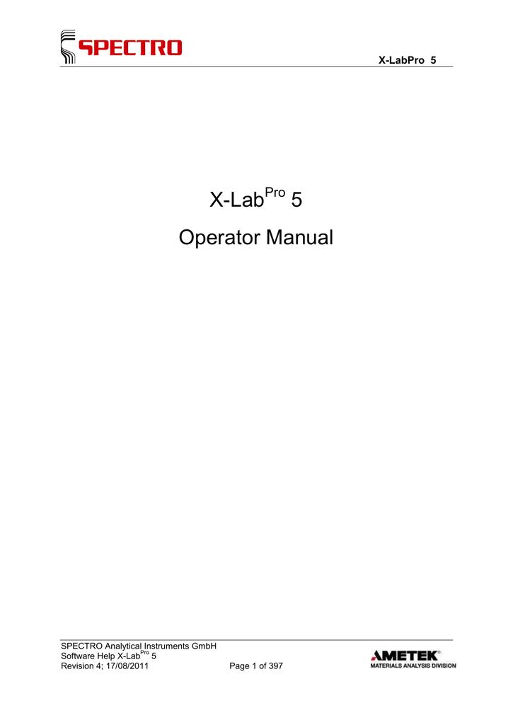 xlabpro 5 operators manual   manualzz, Xlab Template Presentation, Presentation templates