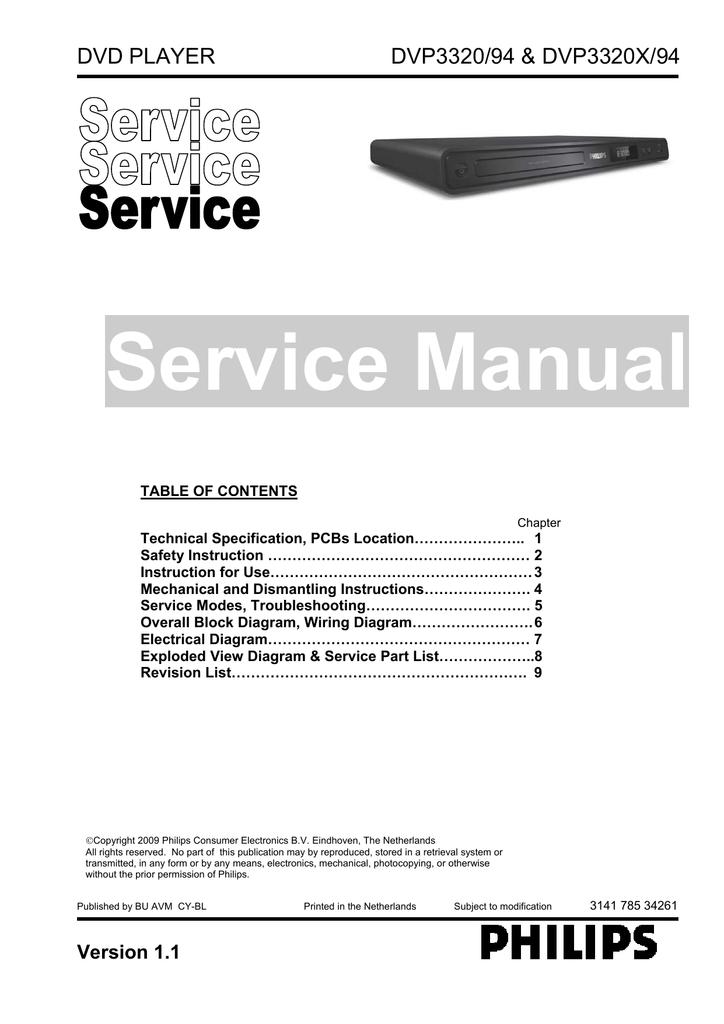 service manual manuales de service manualzz com rh manualzz com Philips Portable DVD Player Philips DVD Player DVP5982 Manual
