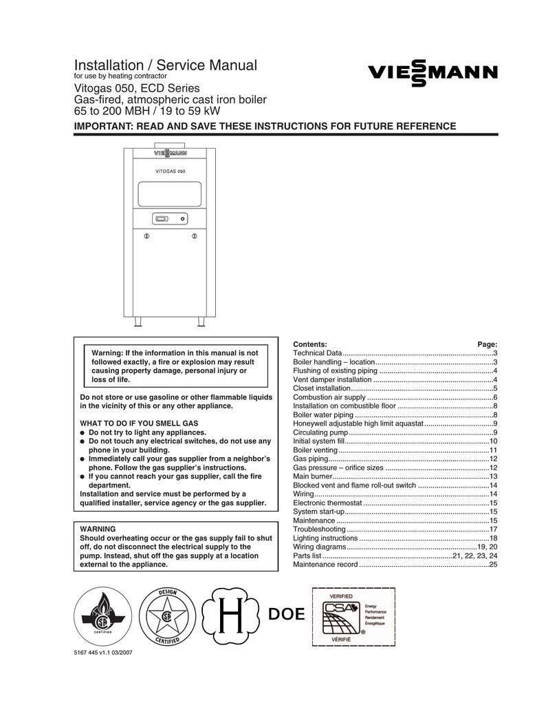 Installation / Service Manual | manualzz.com on