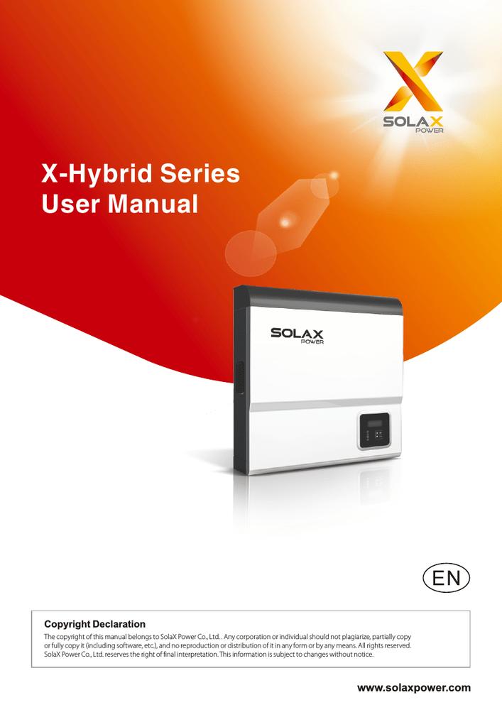 X-Hybrid Series User Manual | manualzz com