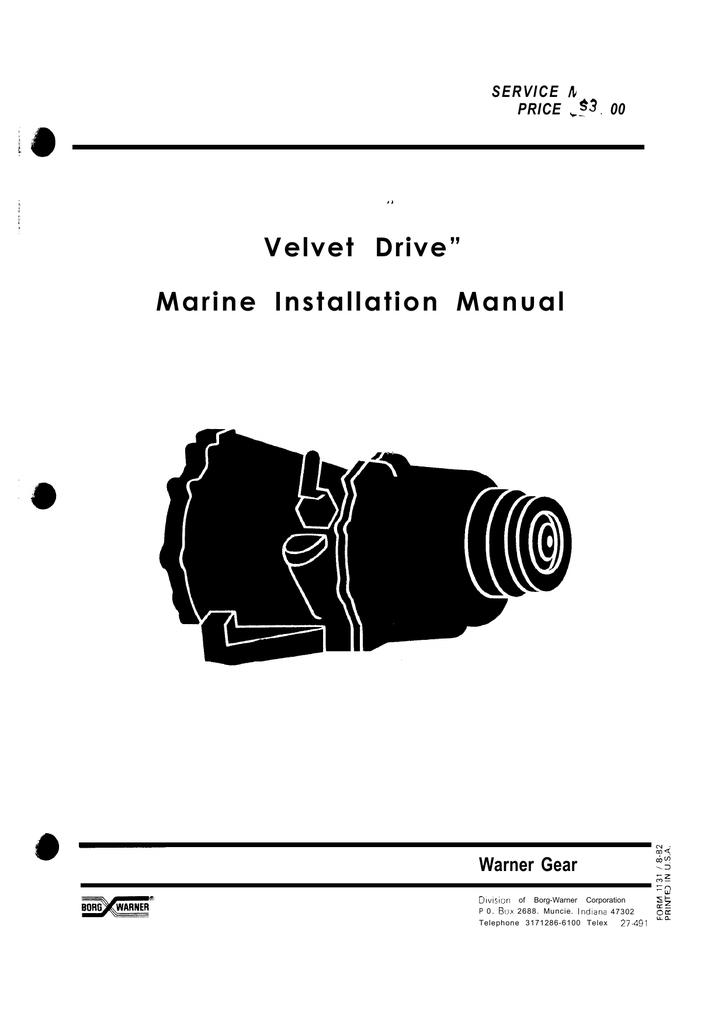 borg warner velvet drive installation manual manualzz com rh manualzz com