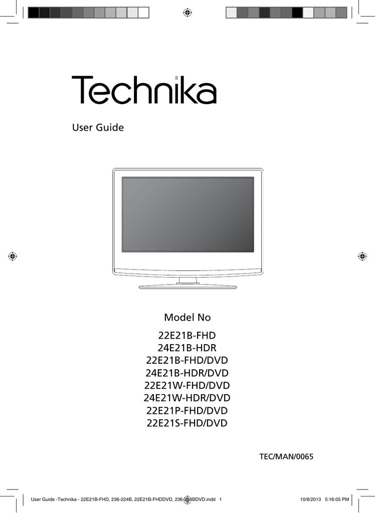 User Guide Technika 22e21b Fhd 236 224b Manualzz