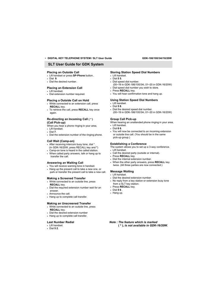 SLT User Guide for GDK System   manualzz com
