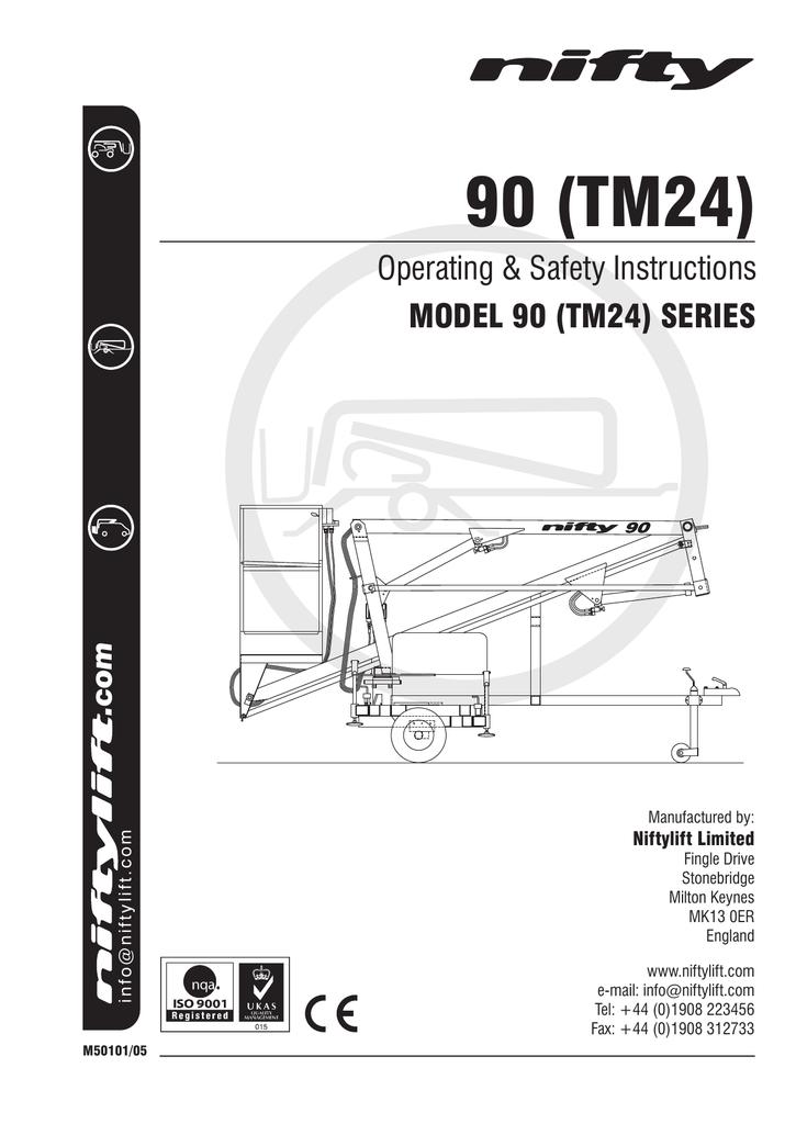 90 (TM24) Operators Manual - ATP Plant & Equipment Hire