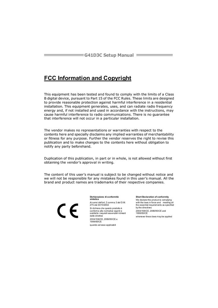 Biostar G41D3C Owner's Manual   manualzz com